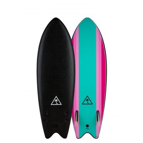 Planche De Surf En Mousse Catch Surf Heritage 5'6 Retro Fish Twin