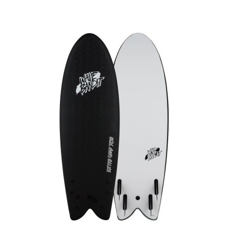Wave Bandit by Catch Surf Retro Fish 5'8 Quad Black