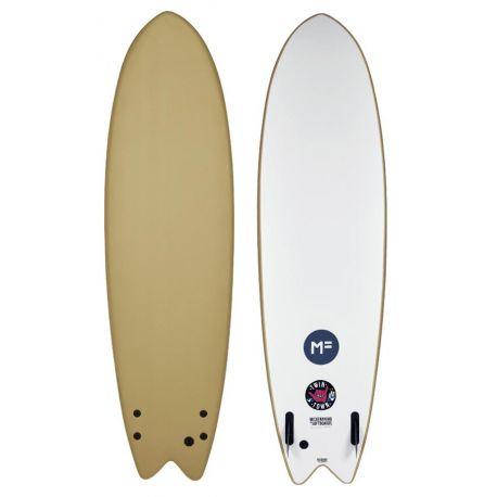 Planche De Surf En Mousse MF Softboards Twin Town 6'6 Soy Brown