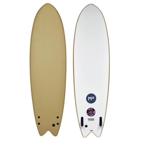 MF Softboards Twin Town 7'6 Soy Brown