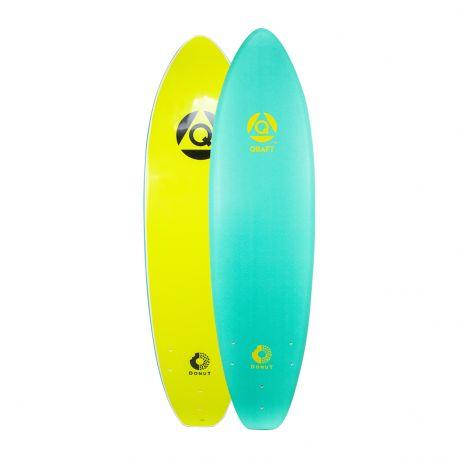 Planche De Surf En Mousse QRAFT The Donut Log 6'0 Turquoise