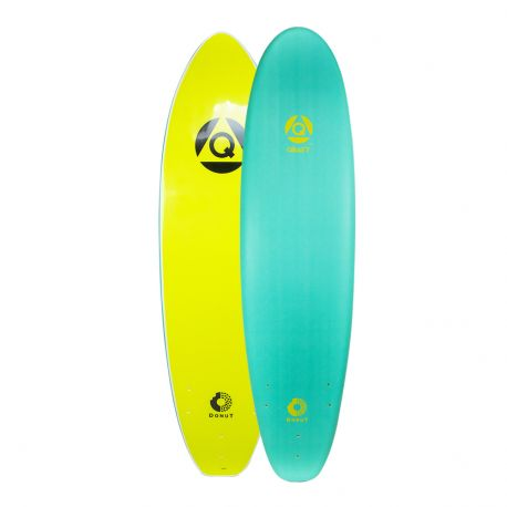 Planche De Surf En Mousse QRAFT The Donut Log 8'0 Turquoise