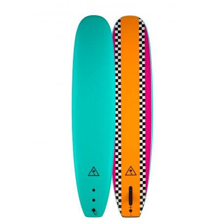 Planche De Surf En Mousse Catch Surf Heritage 8'6 Noserider Single Fin Orange