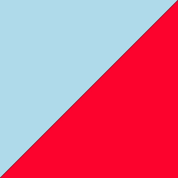 Ice Blue/Fluro Red