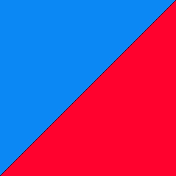 Light Blue/Fluro Red